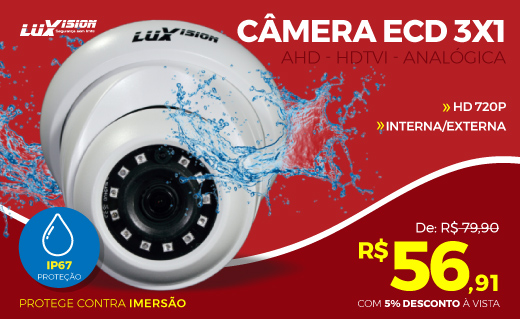 Banner mini 2 - câmera dome luxvision