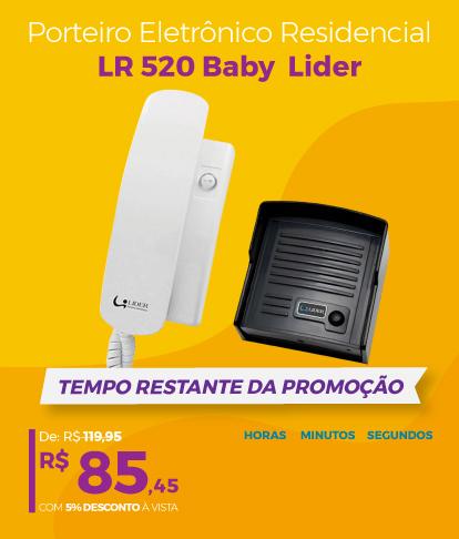 Promo agosto- contador 19- interfone lr 520 baby lider