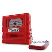 Acionador Manual Endereçavel Quebre O Vidro Sem Sirene IP 20 Engesul