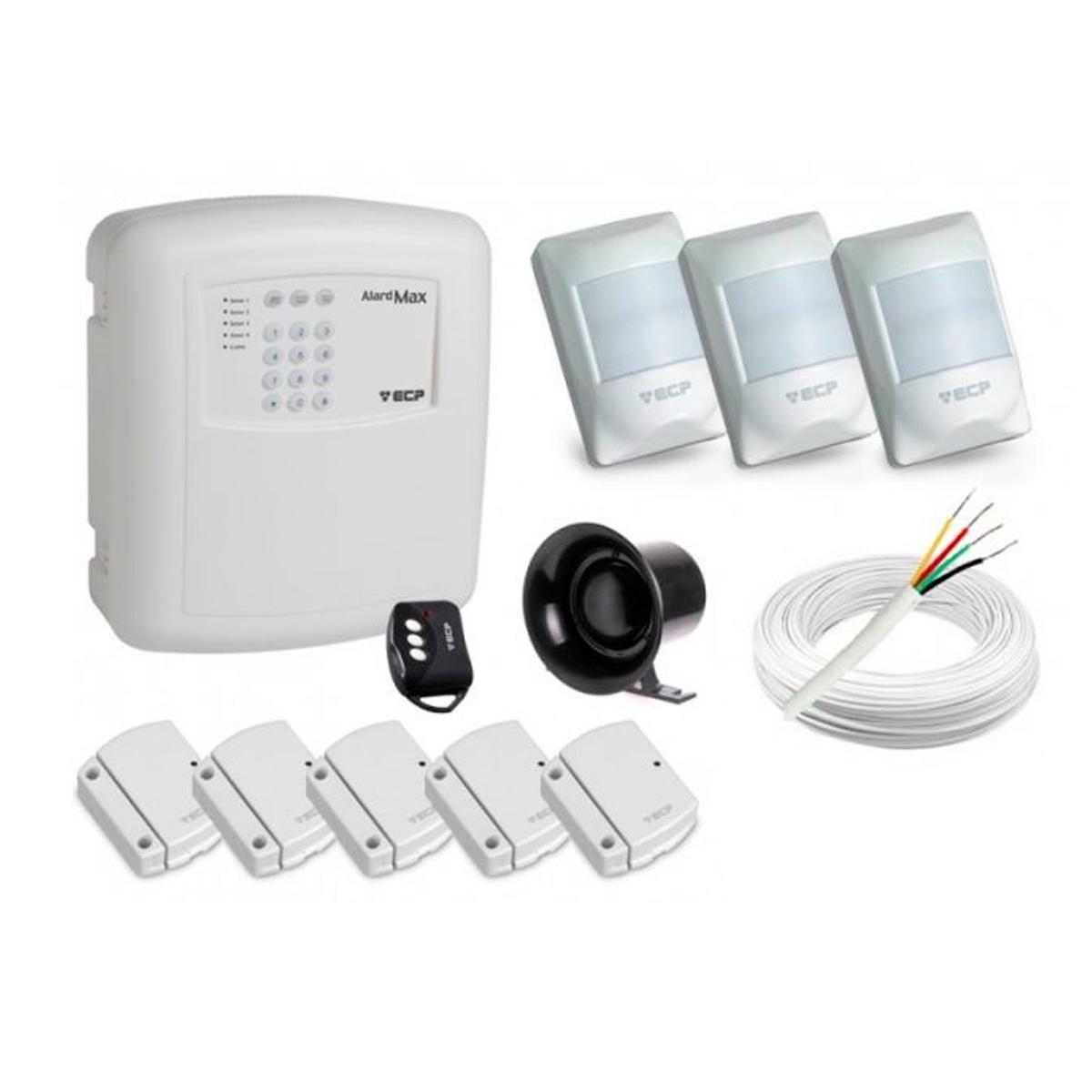 Alarme Completo P/ Casa ou Comércio Alard Max 4 C ...