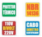 Auto Transformador Bivolt Automático C/ Protetor Térmico - 5000VA (Até 15.000 BTUs)