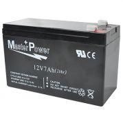 Bateria 12V 7Ah Recarregável Selada p/ Alarme ou Cerca Elétrica - Master Power