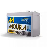 Bateria Moura 12V 7A Recarregável VRLA Selada Estacionária