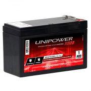 Bateria Selada 12V 7A Recarregável p/ Alarme Cerca Elétrica e Nobreak - Unipower