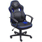 Cadeira Gamer PC YES Mad Racer STI Master Preto e Azul