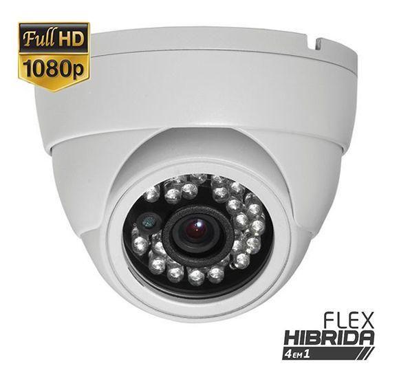 Câmera Dome Flex Híbrida 4 em 1 Infravermelho 25 Metros Full HD 1080p