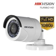 Câmera HD Turbo Bullet Infravermelho Híbrida 1080p Full HD High Definition 2.0 Megapixel Hikvision