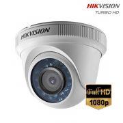 Câmera HD Turbo Dome Infravermelho HDTVI 1080p Full HD 2.0 Mega Pixel - Hikvision