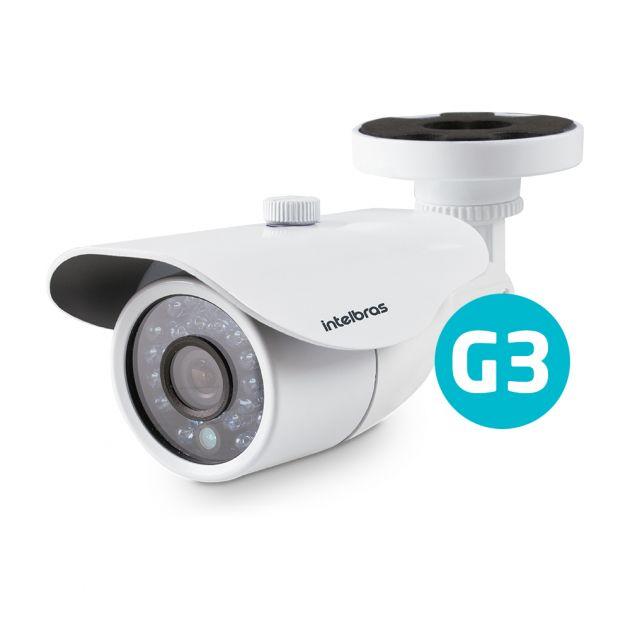 Câmera Híbrida Intelbras VM 3120 IR G3 Infra 20 Metros Lente 2,8mm AHD 720p + Analógica
