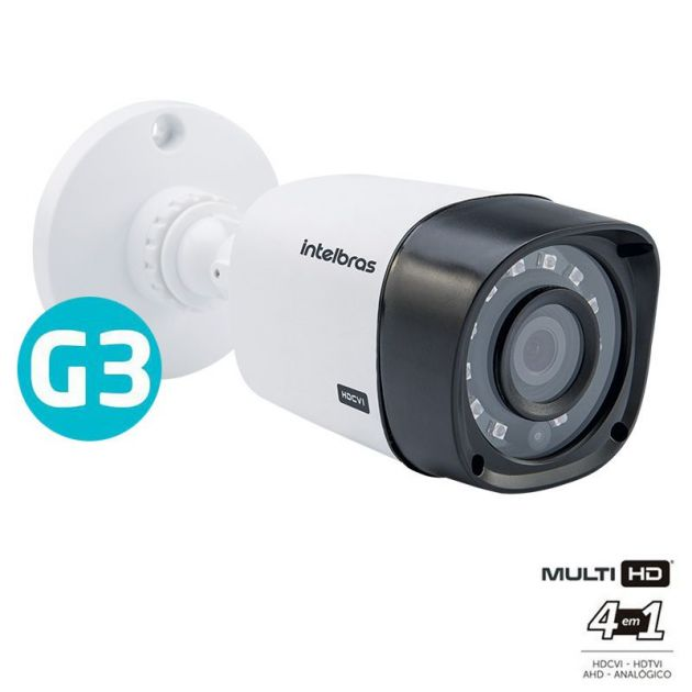 Câmera Multi HD Intelbras VHD 1010 B G3 Bullet Infravermelho 10 Metros 720p HD