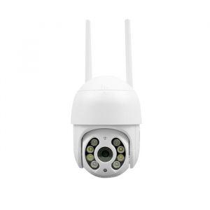 Câmera IP Sem Fio Mini Speed Dome Wi-Fi Full HD 1080p Infravermelho IP66