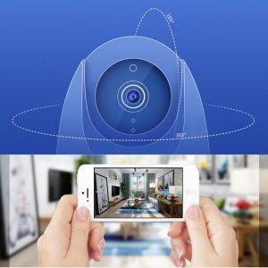 Câmera IP WiFi Com Detector e Rastreamento de Movimento 960p HD Infravermelho Sem Fio