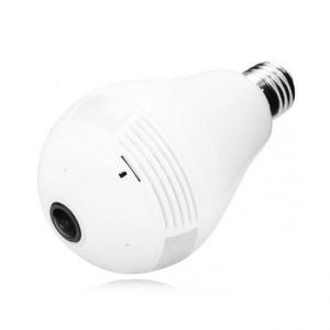 Câmera IP WIFI Lâmpada Espiã HD 720p Panorâmica 360º