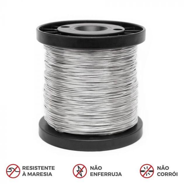 Carretel Fio de Alumínio Premium Para Cerca Elétrica - 0,60mm / 0,90mm