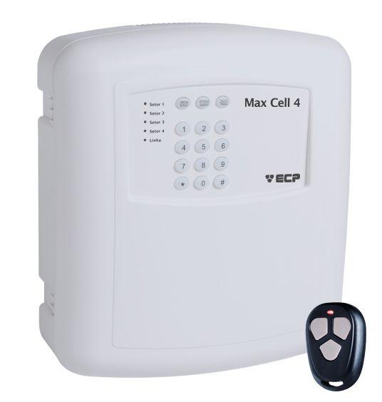 Central de Alarme Residencial ou Comercial Alard Max Cell 4 GSM Monitorado Pelo Celular - ECP
