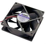 Cooler Microventilador 80 x 80 x 25mm Alimentação 12V - Ideal Para Instalação em Racks Organizadores de Cabos