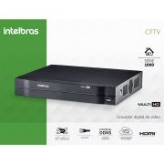 DVR Intelbras Multi HD MHDX 1004 Gravador Digital de Vídeo 4 Canais Full HD 1080N
