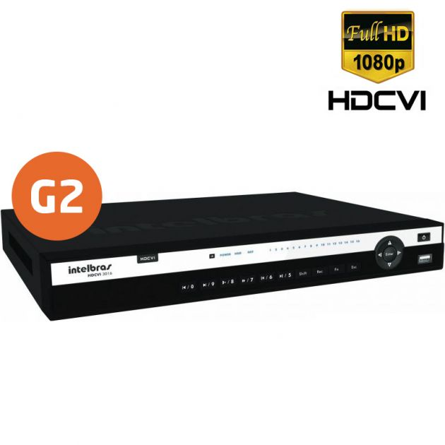 DVR HDCVI 3116 G2 Intelbras Tríbrido 16 Canais de Vídeo em High Definition 1080p Full HD