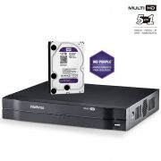DVR Intelbras Multi HD MHDX 1004 Gravador 4 Canais Full HD 1080N Com HD 1TB Western Digital WD Purple