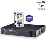 DVR Intelbras Multi HD MHDX 1016 Gravador 16 Canais Full HD 1080N Com HD 3TB Western Digital WD Purple
