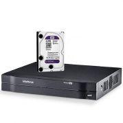 DVR Intelbras Multi HD MHDX 1116 Gravador 16 Canais Full HD 1080P Com HD 4TB Western Digital WD Purple