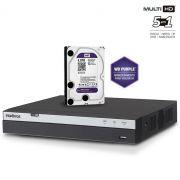 DVR Multi HD Intelbras MHDX 3016 Gravador 16 Canais Full HD 1080p Com HD 4TB WD Purple