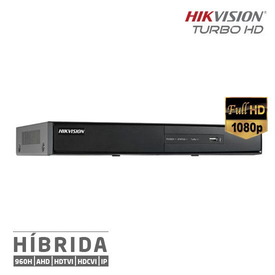 DVR Hikvision Turbo HD 16 Canais Híbrido Full HD 1080p DS-7216HQHI-F1/N
