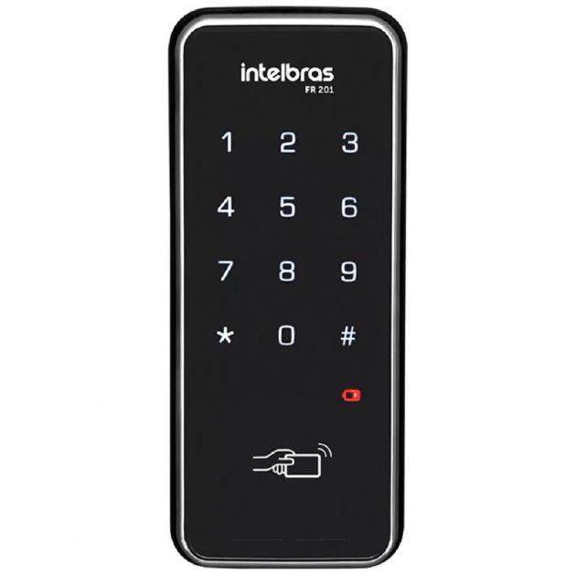 Fechadura Digital Intelbras FR 201 C/ Chaveiro e Senha Teclado Touch