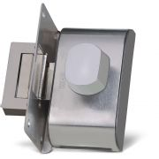Fechadura Elétrica HDL Para Portas de Vidro Com Furo (Vidro/Alvenaria) PV90 1F-B