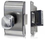 Fechadura Elétrica Para Porta de Vidro Com Rasgo e Abertura Interna PV90 1R-B (Vidro/Alvenaria) c/ Maçaneta Bola - HDL