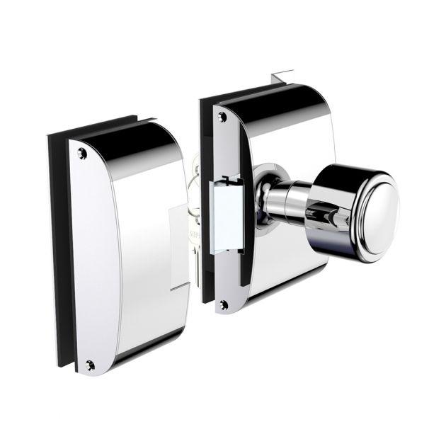 Fechadura Elétrica Para Porta de Vidro (Vidro/Vidro) Com Rasgo e Abertura Interna - Soprano