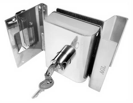 Fechadura Elétrica Porta de Vidro AGL Rasgo 2 Cilindros - PVR1I (Vidro/Alvenaria) PVR2I (Vidro/Vidro)
