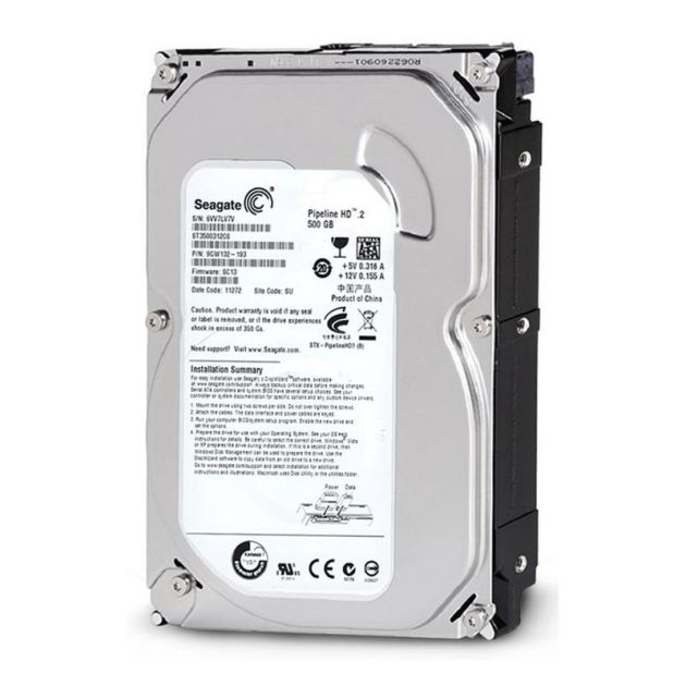 HD Seagate 500GB Pipeline SATA 5900RPM Vídeo 3.5' HDD P/ Gravador DVR