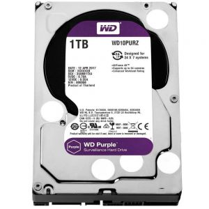 HD Western Digital 1TB WD Purple Surveillance SATA 64MB Cache - WD10PURZ