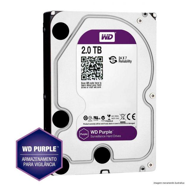 HD Western Digital 2TB WD Purple Surveillance SATA 64MB Cache - WD20PURZ