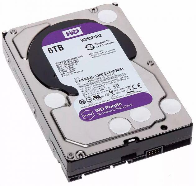 HD Western Digital 6TB WD Purple Surveillance SATAIII WD60PURZ