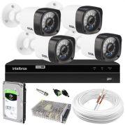 Kit 4 Câmeras de Segurança HD Completo c/ DVR MHDX 1004 Intelbras