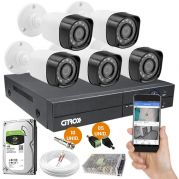 Kit 5 Câmeras de Segurança Full HD c/ DVR Luxvision ECD 8 Canais 1080N Completo