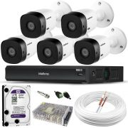 Kit 5 Câmeras Intelbras VMH 1220 Com Gravador MHDX 3108 Full HD Completo