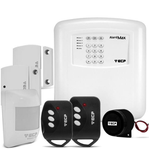 Kit Alarme Alard Max 4 Residencial e Comercial c/ 3 Sensores e Discadora Telefônica - ECP