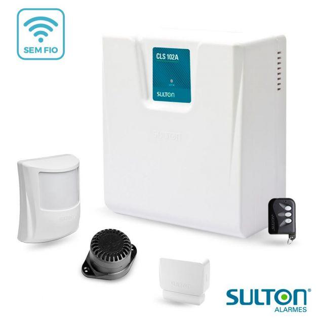 Kit Alarme Sem Fio Básico Sulton CLS 102A Com 2 Sensores