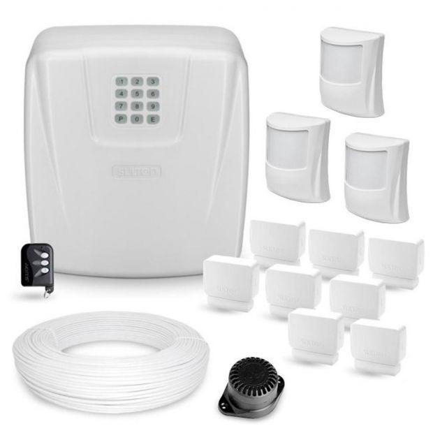Kit Alarme Completo 11 Sensores e Central Sulton c/ Discadora