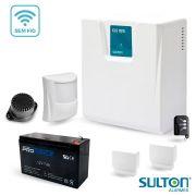 Kit Alarme Completo Sem Fio Central CLS102 e 3 Sensores Sulton