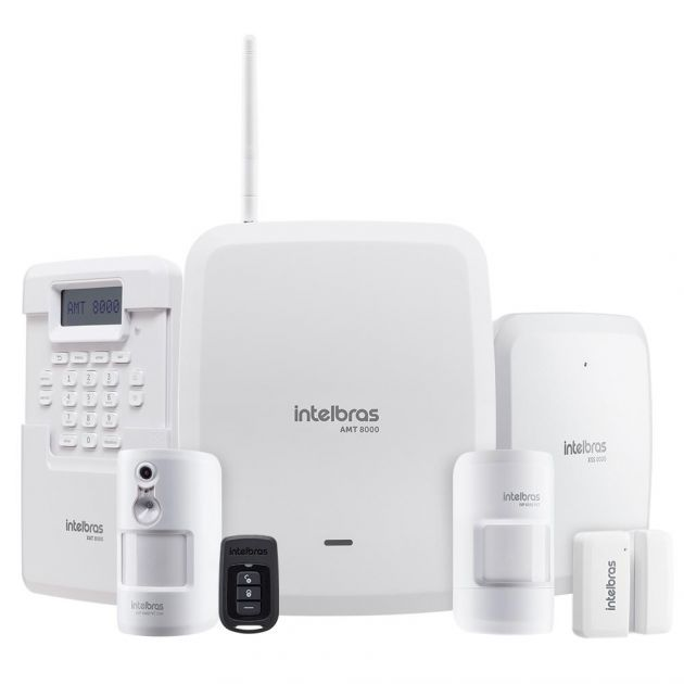 Kit Alarme Intelbras Linha 8000 Totalmente Sem Fio e Configurado Monitorado Via Aplicativo Celular
