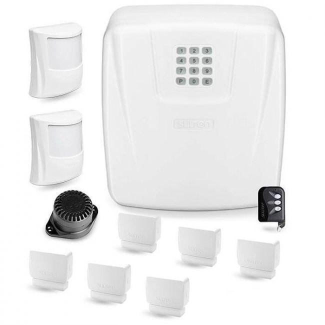Kit Alarme Residencial e Comercial Sulton CLS 10 Com 8 Sensores Sem Fio e Discadora Telefônica