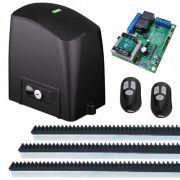 Kit Automatizador Deslizante Motor 1/3 HP Portão Eletrônico Slider Maxi Plus PL RCG