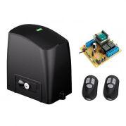Kit Automatizador Deslizante Motor 1/4 HP Portão Eletrônico Slider Maxi PL RCG (S/ Cremalheira)