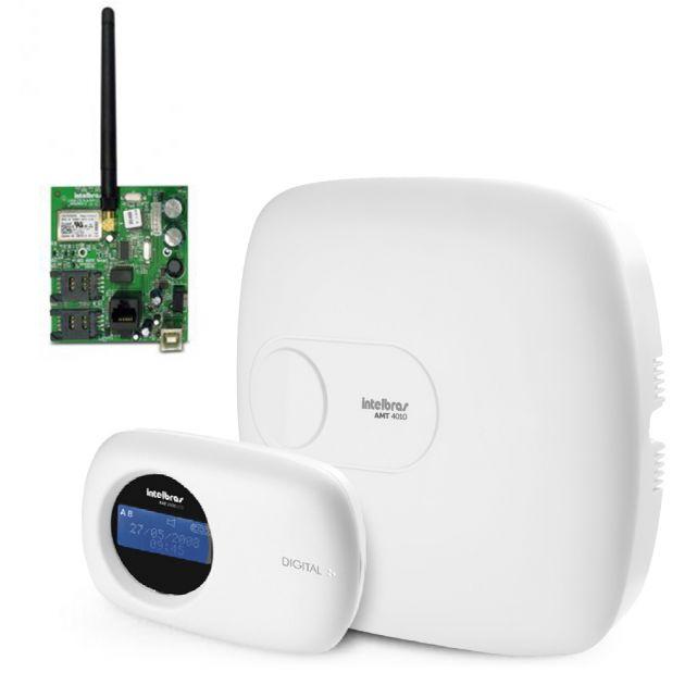 Kit Central de Alarme Monitorada AMT 4010 SMART Intelbras   Comunicador Ethernet/GPRS XEG 4000 Smart