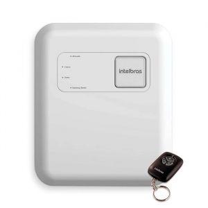 Kit Cerca Elétrica Industrial C/ Big Hastes de 1 Metro e Central de Choque e Alarme Intelbras - 50 Metros de Muro