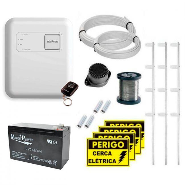 Kit Cerca Elétrica Intelbras Com Setor de Alarme Para 60 Metros de Muro